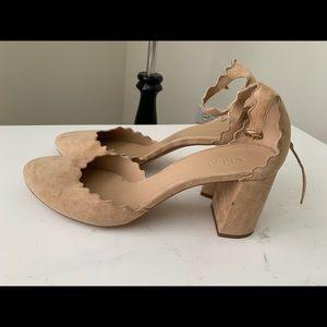 Chloe lauren scalloped scallop Heels 40.5